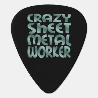 Crazy Sheet Metal Worker in Silver Metal Plectrum