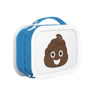 Crazy Silly Brown Poop Emoji Lunchbox