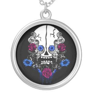 Crazy Skull Round Pendant Necklace