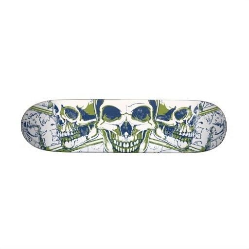 Crazy skulls Deck Skateboards