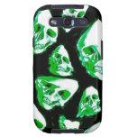 crazy skulls green galaxy SIII case