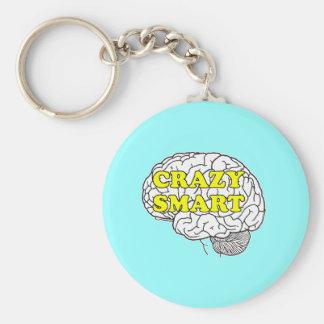 crazy smart basic round button key ring