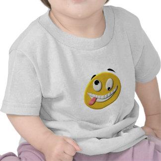 Crazy Smiley Face Tee Shirts