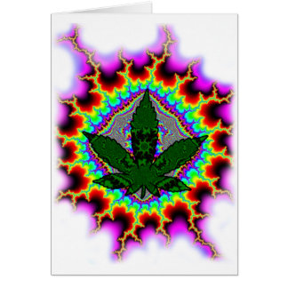 Crazy Smoke Weed Fun Rasta Card