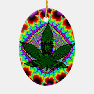 Crazy Smoke Weed Fun Rasta Ceramic Oval Decoration
