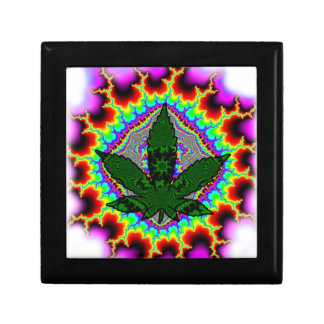 Crazy Smoke Weed Fun Rasta Small Square Gift Box