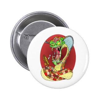 Crazy SNAKE 6 Cm Round Badge