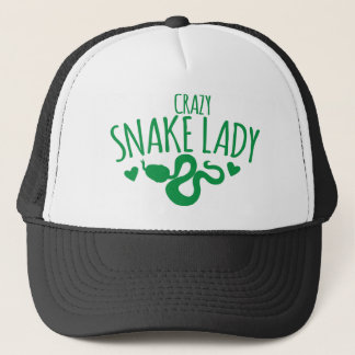 Crazy Snake Lady Trucker Hat