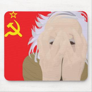 Crazy soviet scientist mouse pad