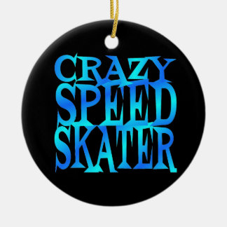 Crazy Speed Skater Christmas Ornament