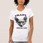 Crazy Sphynx Lady Shirt
