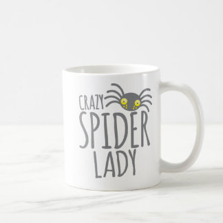 Crazy Spider Lady Coffee Mug