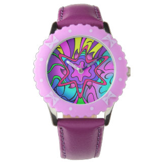 Crazy star purple wristwatch