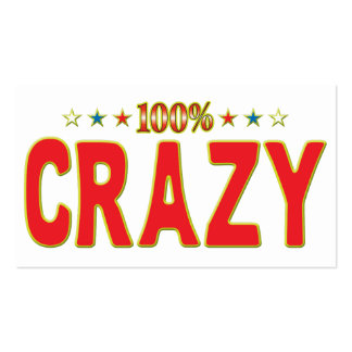 Crazy Star Tag Pack Of Standard Business Cards