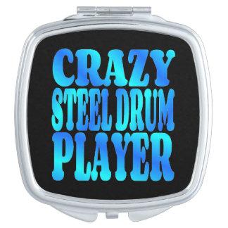 Crazy Steel Drum Player Travel Mirror