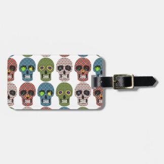Crazy Sugar Skull Pattern Luggage Tag