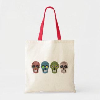 Crazy Sugar Skull Pattern Tote Bag