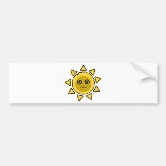 Crazy Sun Bumper Sticker