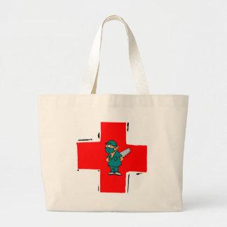 crazy surgeon jumbo tote bag