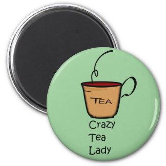 Crazy Tea Lady Fridge Magnet