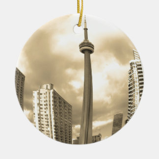 Crazy Toronto Skyline Christmas Ornament
