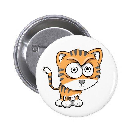 Crazy Tough Insane Baby Tiger Cub Button