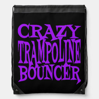 Crazy Trampoline Bouncer in Purple Drawstring Bag