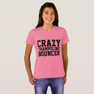 CRAZY TRAMPOLINE BOUNCER Kids T-shirts