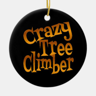Crazy Tree Climber in Gold Christmas Ornament