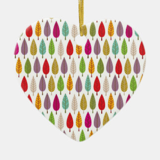 Crazy tree patterned heart shaped ornament