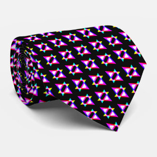 Crazy Triangles Black Background Tie
