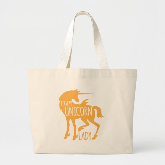 Crazy Unicorn Lady Large Tote Bag