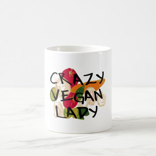 CRAZY VEGAN LADY COFFEE MUG