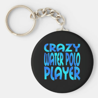 Crazy Water Polo Player Basic Round Button Key Ring