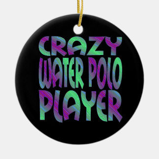 Crazy Water Polo Player in Multi Colors Christmas Ornament