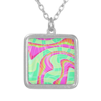 Crazy Waves Silver Plated Necklace