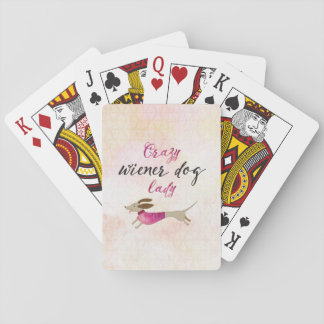 Crazy Wiener Dog Lady Playing Cards