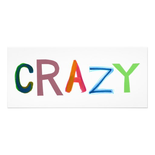 Crazy wild bold colorful goofy fun silly word art personalized invitations