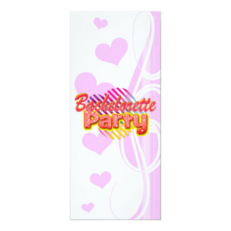 crazy wild fun retro bachelorette party bridal 10 cm x 24 cm invitation card