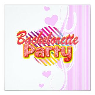 crazy wild fun retro bachelorette party bridal 13 cm x 13 cm square invitation card