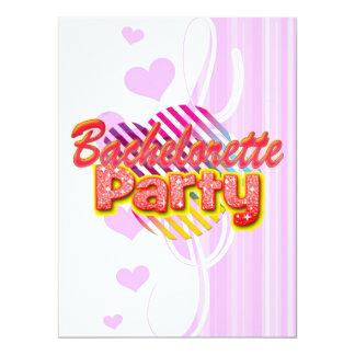 crazy wild fun retro bachelorette party bridal 17 cm x 22 cm invitation card