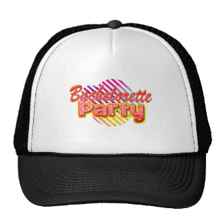 crazy wild fun retro bachelorette party bridal trucker hat