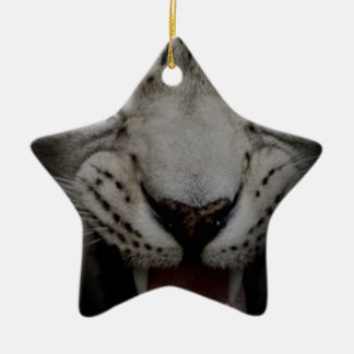 Crazy Wild Leopard Animal Cat Christmas Ornament