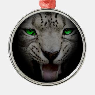 Crazy Wild Leopard Animal Cat Christmas Ornament