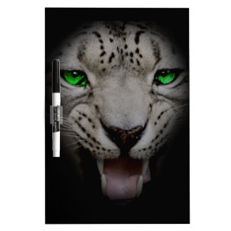 Crazy Wild Leopard Animal Cat Dry Erase Board