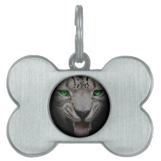 Crazy Wild Leopard Animal Cat Pet Name Tag