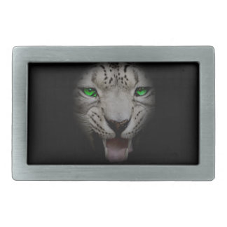 Crazy Wild Leopard Animal Cat Rectangular Belt Buckles