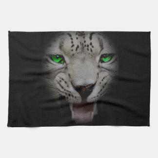 Crazy Wild Leopard Animal Cat Tea Towel