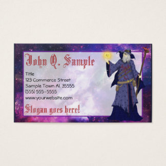 Crazy Wiz Biz, Space Wizard Art Business Card