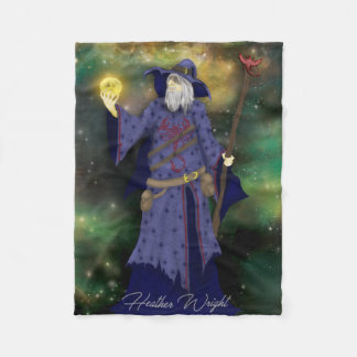 Crazy Wiz Biz, Space Wizard Art Fleece Blanket